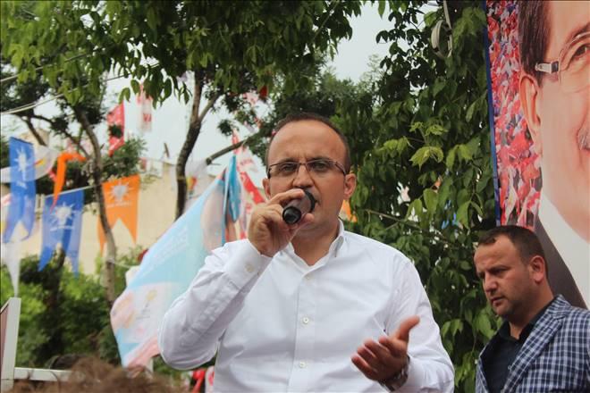 AKP Seçim Öncesi Çan'da Son Mitingini Yaptı