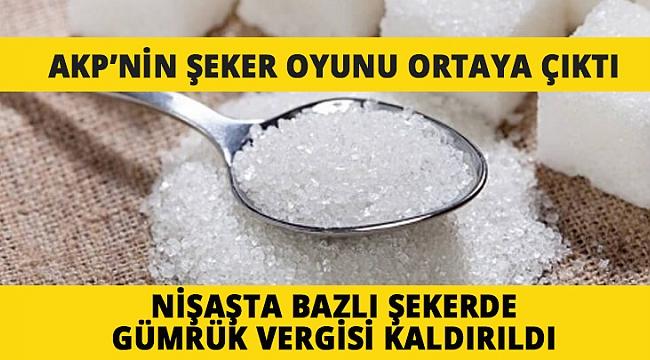 BÜLENT ÖZ;  AKP'NİN ŞEKER OYUNU ORTAYA ÇIKTI