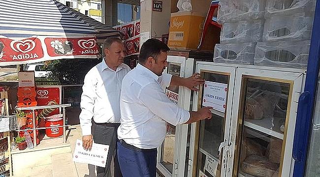 MHP Çan İlçe Başkanlığı İlçe Genelinde Askıda Ekmek Projesini Hayata Geçirdi