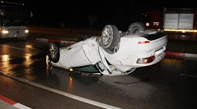 Çan'da Kaza! 1 Kişi Yaralandı!