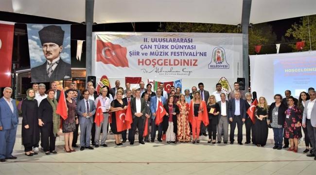 Çan'da II. Uluslararası Çan Türk Dünyası Şiir ve Müzik Festivali