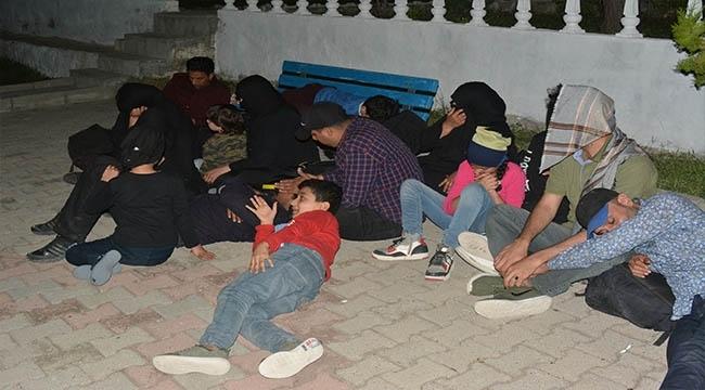 Çanakkale'de 28 Mülteci Yakalandı