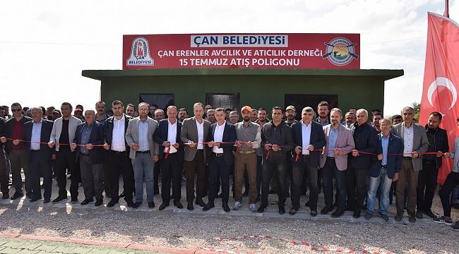 Çan Belediyesi 15 Temmuz Atış Poligonuna Görkemli Açılış