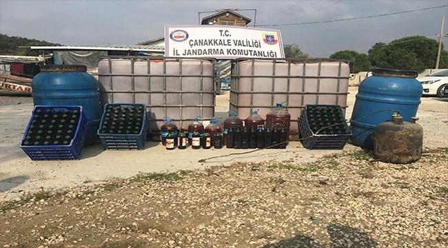 Çanakkale'de Kaçak İçki Operasyonu
