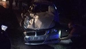 Hurma Köy Sapağında Kaza! 1 Ölü, 1 Yaralı