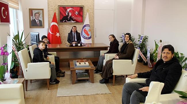 Çan Kaymakamı Mustafa Gürdal, Öğrencileri Tebrik Etti