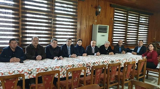 CHP Çan Belediye Başkan Adayı Öz, Eski Çan İlçe Başkanlarıyla Buluştu