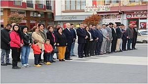 Çan CHP ve ADD'den 23 Nisan Çelenk Töreni Gerçekleştirildi