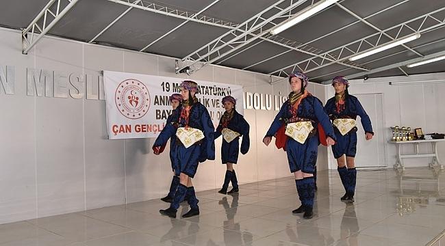 Çan'da 19 Mayıs Atatürk'ü Anma, Gençlik ve Spor Bayramı Coşkuyla Kutlandı