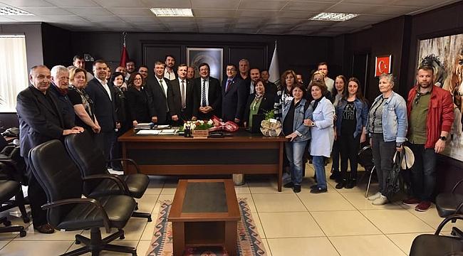 CHP'li Erkek ve CHP'li Ceylan, Çan Belediye Başkanı Bülent Öz'ü Makamında Ziyaret Etti