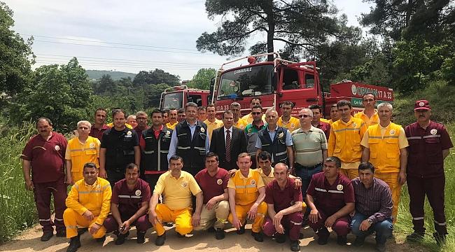 Orman İşletme Müdürlüğü Yangın Tatbikatı Ve Semineri Gerçekleştirildi