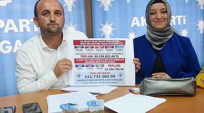 Ak Parti Biga İlçe Başkanı Ahmet Şahin, Belediyenin Borcunu Açıkladı