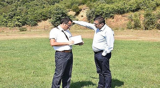 Çan Belediye Başkanı Öz, Güreş Sahasını İnceledi