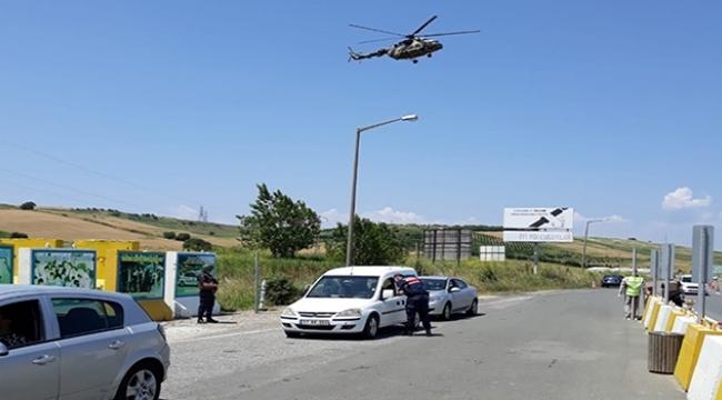 Helikopterle Trafik Denetimleri Sürüyor