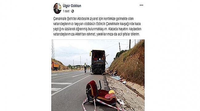 Tur Otobüsü İle Otomobil Çarpıştı!