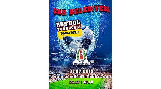 Çan Belediyesi Geleneksel Futbol Turnuvası Başlıyor