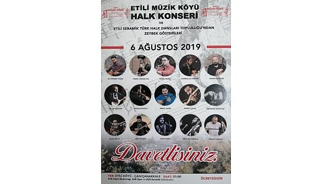 Etili Müzik Köyü Halk Konserinde Eğlenmeye Hazır Olun!