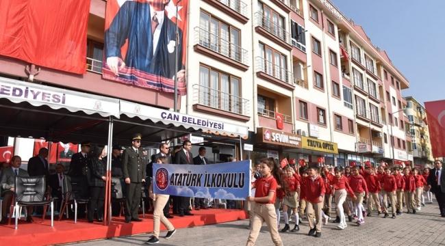 29 Ekim Cumhuriyet Bayramı Çan'da Coşkuyla Kutlandı