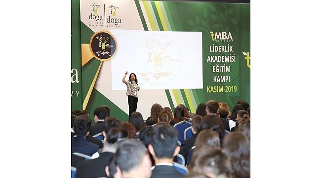 Biga Doğa Koleji Lise Öğrencileri  Antalya ' da t-MBA Liderlik Akademisi Kampında.