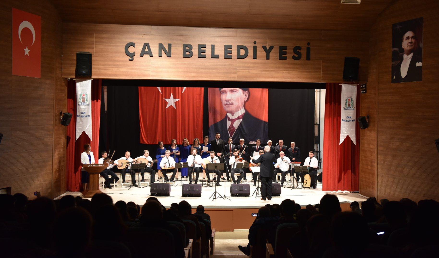 Çan Belediyesinden 24 Kasım Öğretmenler Günü Müzik Şöleni