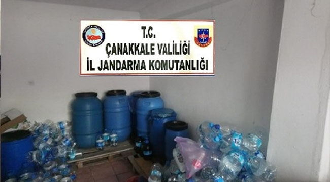 Çanakkale'de 1.275 Litre Kaçak İçki Ele Geçirildi!