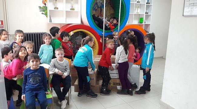 Çan Cumhuriyet İlkokulu'ndan Anlamlı Yardım