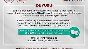 PTT ÜCRETSİZ MASKE DAĞITIMINA BAŞLADI!