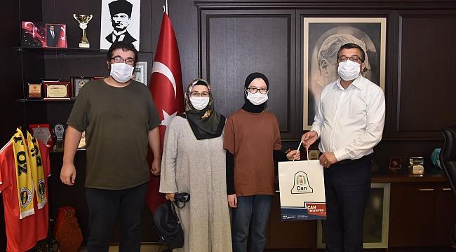 BÜLENT ÖZ LGS ÇAN BİRİNCİSİNİ TEBRİK EDEREK BAŞARILAR DİLEDİ...!