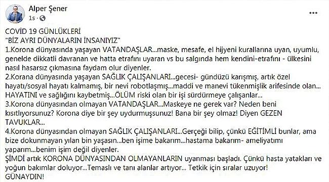 """BİZ AYRI DÜNYALARIN İNSANIYIZ"""
