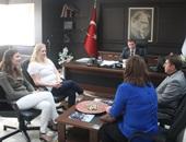 Yabancı Konuklar Başkan Kuzu'yu Ziyaret Etti