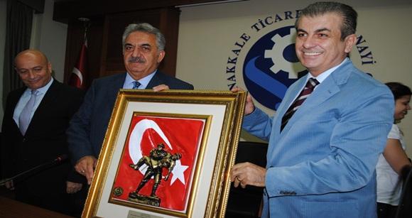 ÇTSO'yu  Ziyaret Eden Gümrük Ve Ticaret Bakanı Hayati Yazıcı